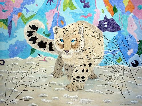"""Snow Leopard"" by  Oenone Hammersley"