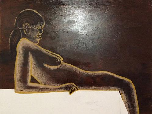 """Nude Reclining"" by Peter Casini"