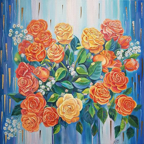 """""""Love in Orange / Gift of Joy"""" by Natalie Sobo"""