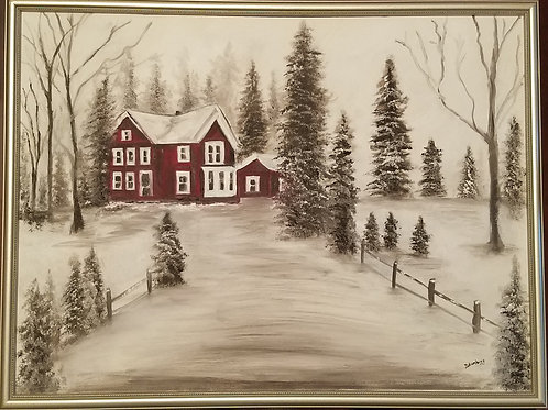"""A Cozy Winter Place"" by Dolores Williams Bumbrey"