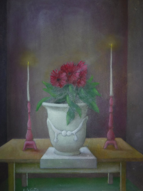 """Still Life With Candles"" by Alfredo DeCurtis"