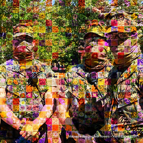 """Marines ~ Merging with Flowers"" by Karin Edgett"