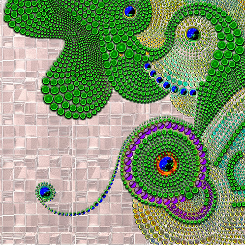 """Green Dotz"" by Brenda Chandler"