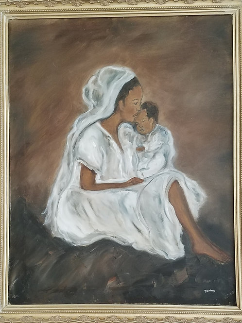 """""""Mother and Child"""" by Dolores Williams Bumbrey"""
