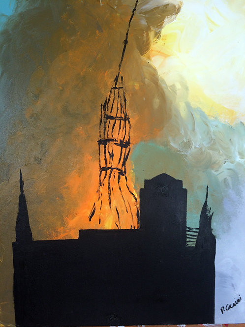 """""""Notre Dame Burning"""" by Peter Casini"""
