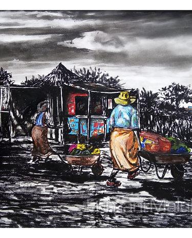 """Ku xavisa I Ku ti hanyisa..... selling for living"" by Fumani Walter Maluleke"