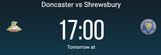 Doncaster vs Shrewbury free surebet prediction