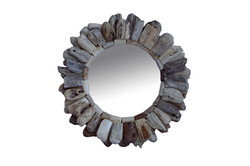 Small Drift Wood Mirror Round