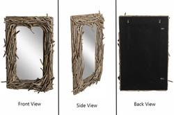 Irregular Driftwood Mirror Natural
