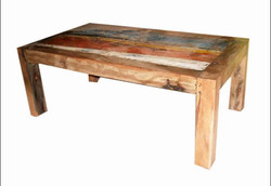 Short Boat Wood Coffee Table