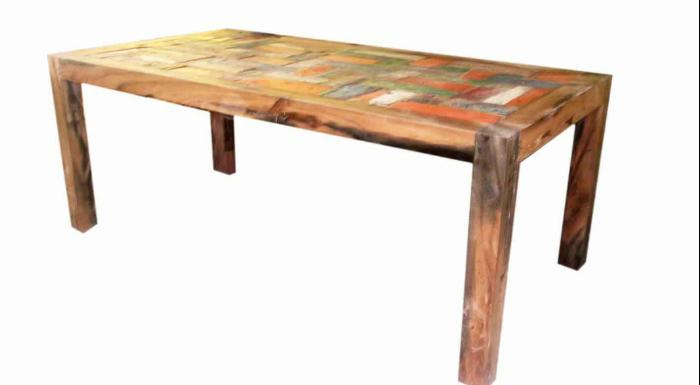 Long Boat Wood Coffee Table