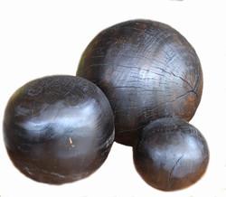 Black Teak Decoration Balls