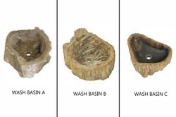 Petrified Wood Organic Wash Basin M