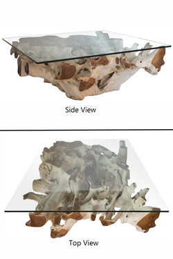 2-tone Square Teak Root Coffee Table