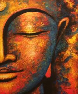 Buddha Textured #2 Painting