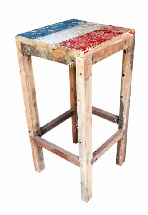 Boat Wood Backless Barstool