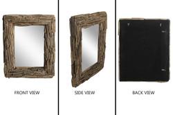 Rectangular Driftwood Mirror Natural