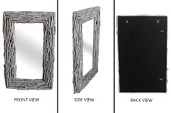 Long Driftwood Mirror White