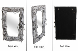 Irregular Driftwood Mirror White