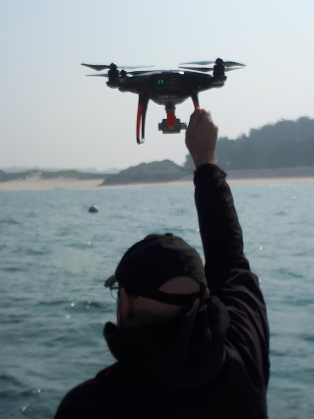 atterrissage drone en mer