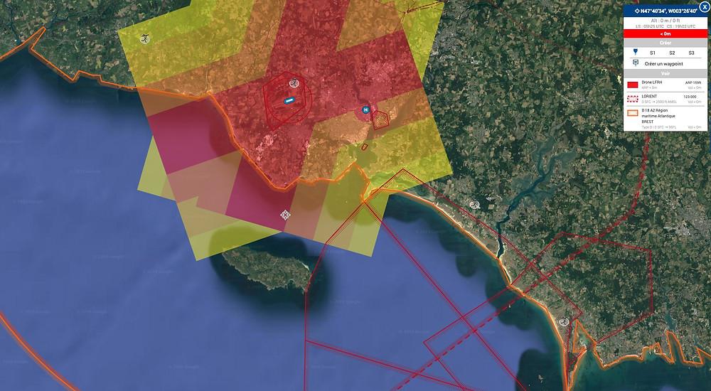 restrictions drone Lorient