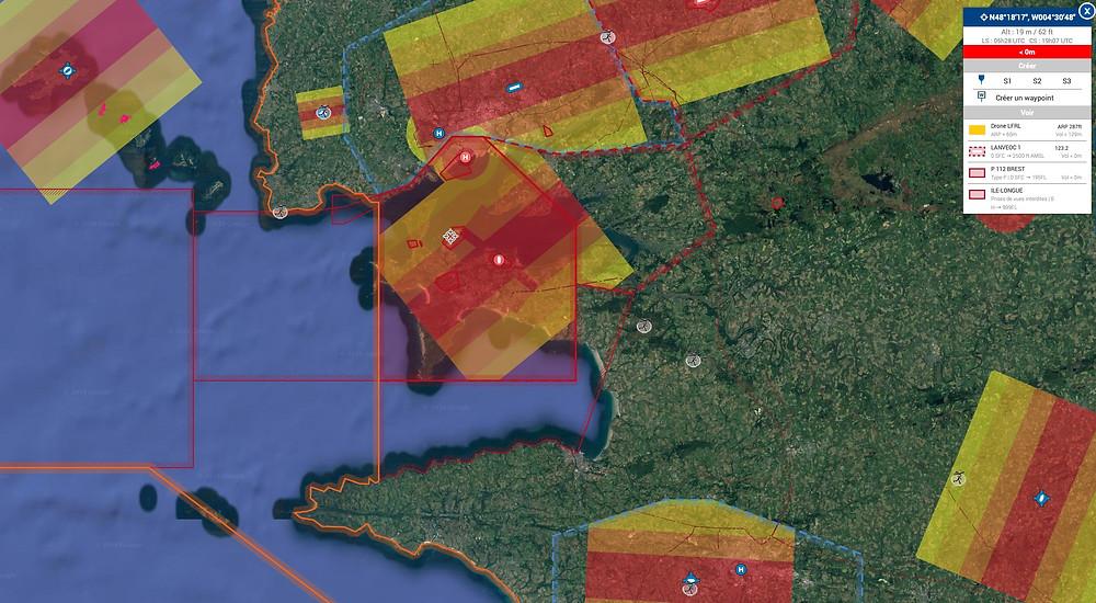les restrictions drone sur la pointe du Finistère
