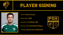 Steve Evans becomes first ever player signing for PDX FC!