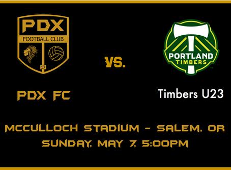 1st Exhibition match vs Portland Timbers U23
