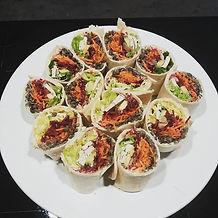 #wraps#lentilles#crudites#grainesdecourg