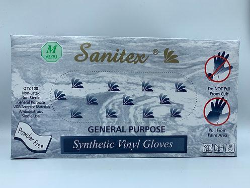 Vinyl Gloves Powder Free Med