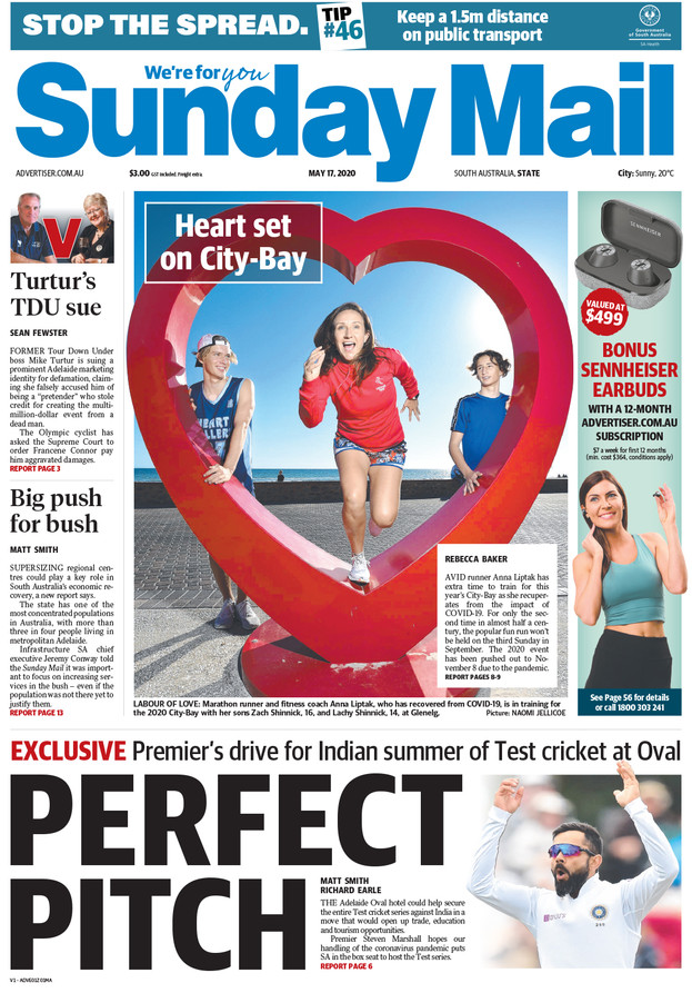 Newspaper front cover