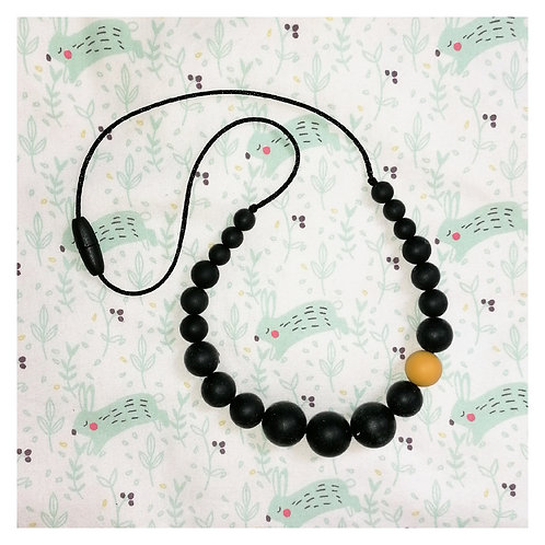 Collier Maxi Noir Orange