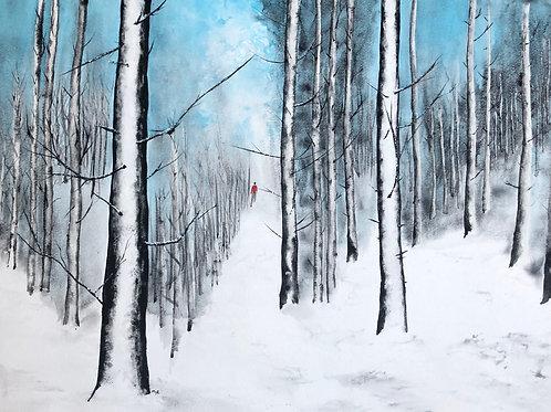 Forêt enneigée 54x40 cm