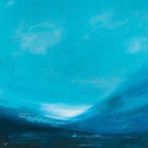 Blue sky 100x100cm