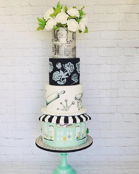 Award winning cake for Sugar Artists of Utah Cake Show