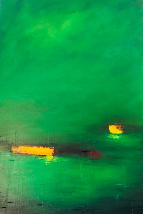 Green symphony 80x120cm