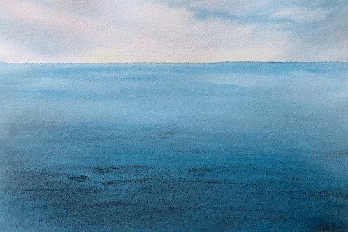 Variation en bleu 34x24 cm