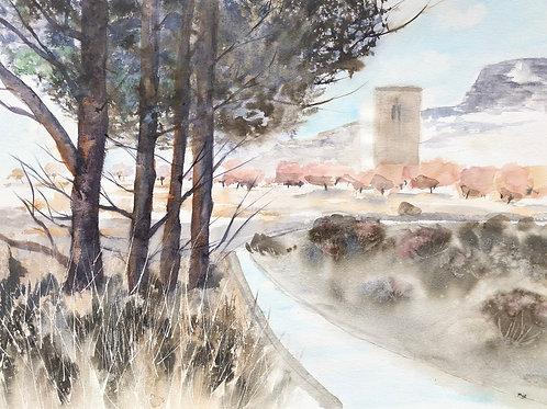 Tour à Avignon 41x56 cm