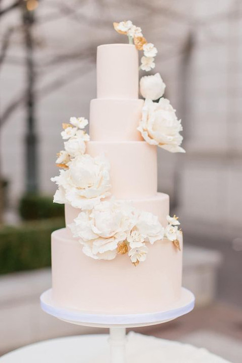 Fondant Cake with Sugar Peonies