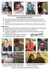 Flyer de présentation de l'association Trismoie 21 Vendée 2015