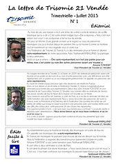 Lettre d'information n°1 Trisomie 21 Vendée