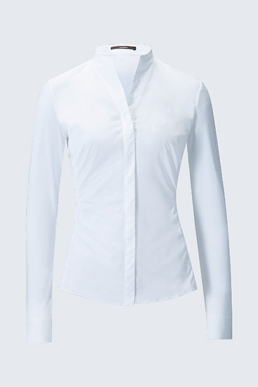Windsor Woman Satin-Bluse in Weiss