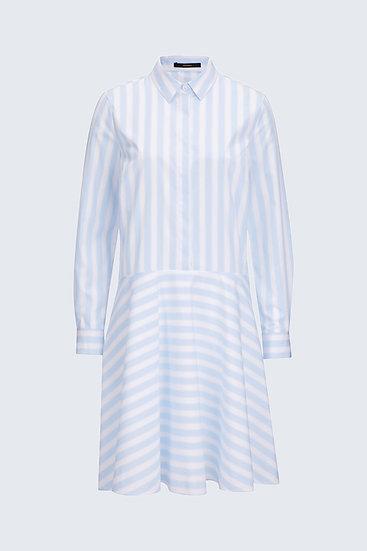 Windsor Woman Popeline-Hemdblusen-Kleid in Hellblau-Weiß