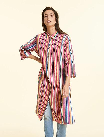 Marina Rinaldi Hemd aus Baumwolle und Leinen