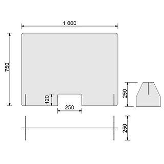 Plexiglasschutzwand---Spuckschutz-BASIC-