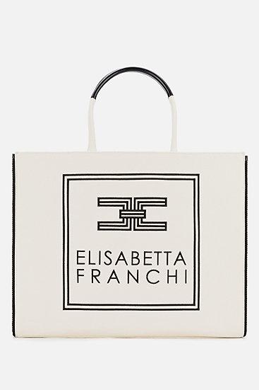 Elisabetta Franchi großer Shopper aus Canvas