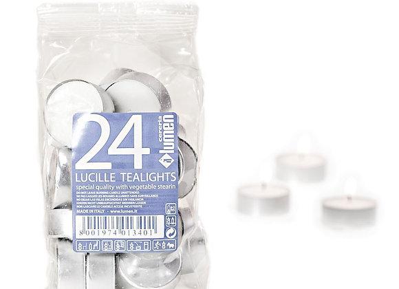 24 LUCILLE TEALIGHTS IN ALLUMINIO