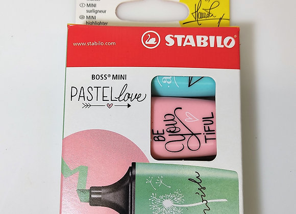 3 STABILO® BOSS® MINI PASTEL love