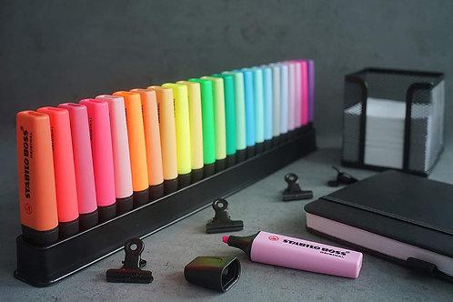 STABILO BOSS ORIGINAL Desk-Set 50 Years Edition - 23 Colori assortiti 9 Neon + 1