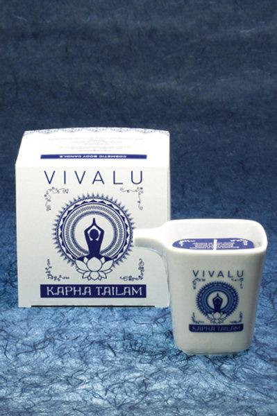 CANDELA MASSAGGIO TAILAM ML125 VIVALU KAPHA BLU-BLUE